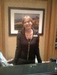 Julee. Hotel Employee. Recently discovered Dave. Cut up 3 credit cards. 1 American Express to go.