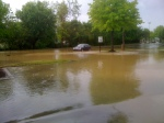 Mercedes stuck at Cool Springs Mall...after water receded